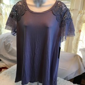 AGB Lilac Pull Over Top